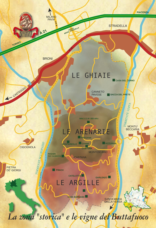 CARTINA BUTTAFUOCO tagliata Historical Area