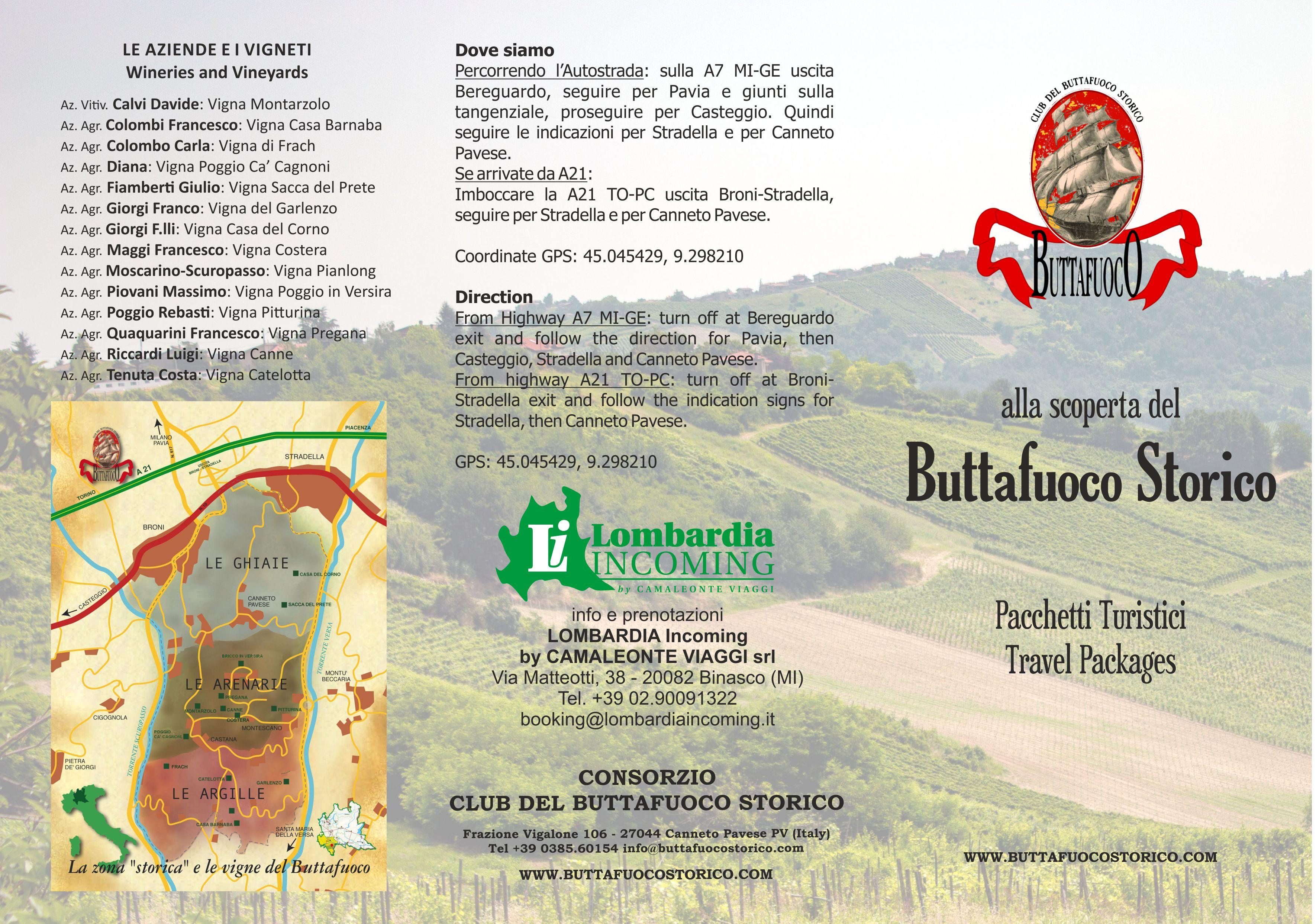 depliant pacchetti 2018 E I pacchetti turistici del Buttafuoco Storico
