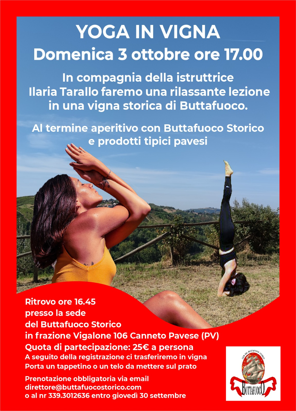 """""""YOGA in Vigna"""" con Ilaria Tarallo"""